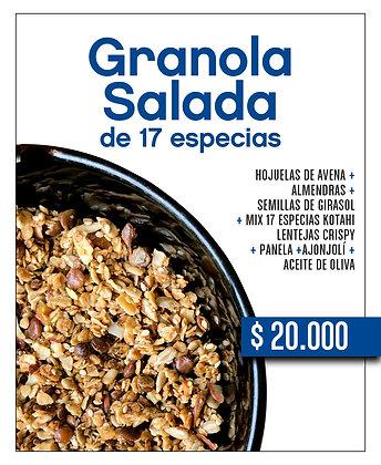 Granola salada de 17 especias