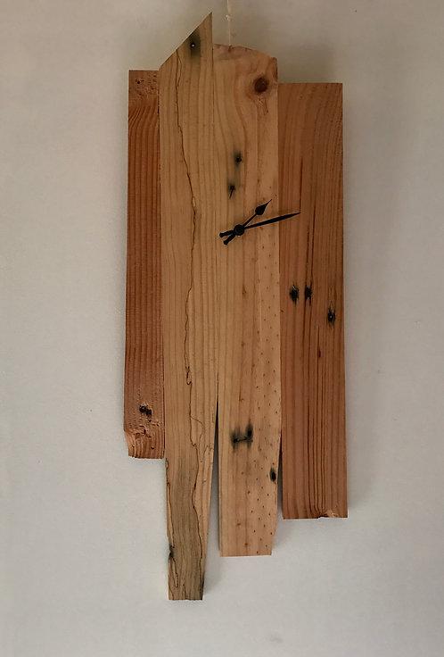 horloge bois recycle