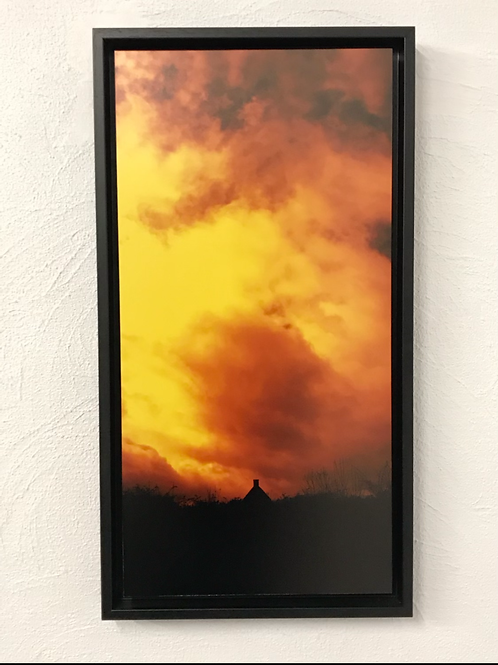 Look at my sky - photo encadrée en caisse américaine noire
