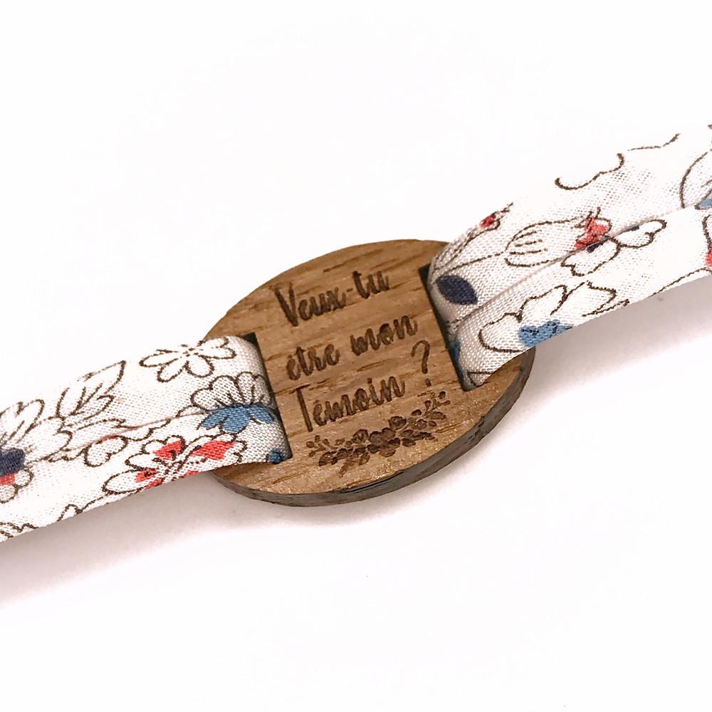 Bracelet cadeau témoin mariage