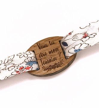 """Bracelet Annonce Témoin """"Veux-tu être mon témoin"""""""