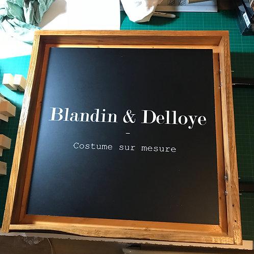 enseigne magasin bois