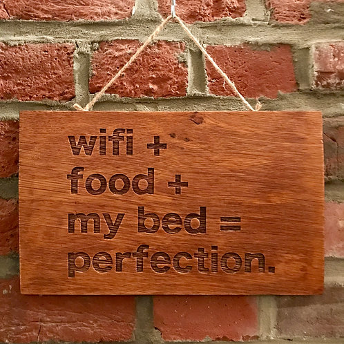 panneau bois wifi food my bed perfection