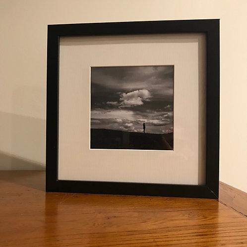 Contemplation : photographie encadrée avec passe partout