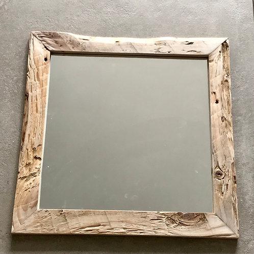 Miroir encadré bois brut