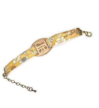 Bracelet temoins de mariage et demoiselles d'honneur initiales date