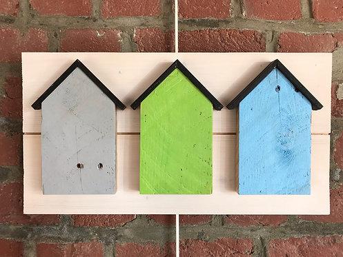 Cadre maisons bois colores