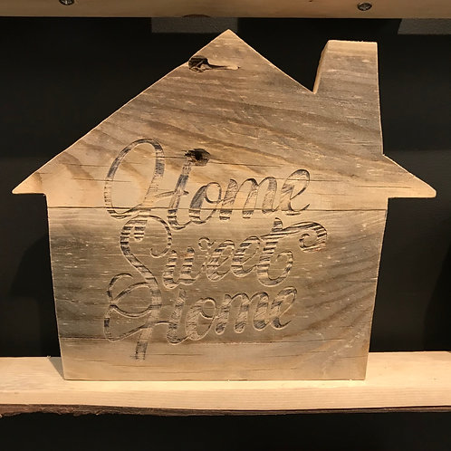 Maison en bois recycle home sweet home