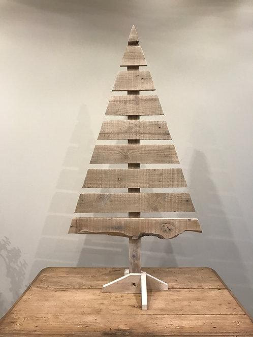 Sapin de Noël en bois recyclé hauteur environ 90cm