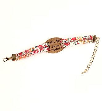 Bracelet temoins de mariage et demoiselles d'honneur personnalisé initiales