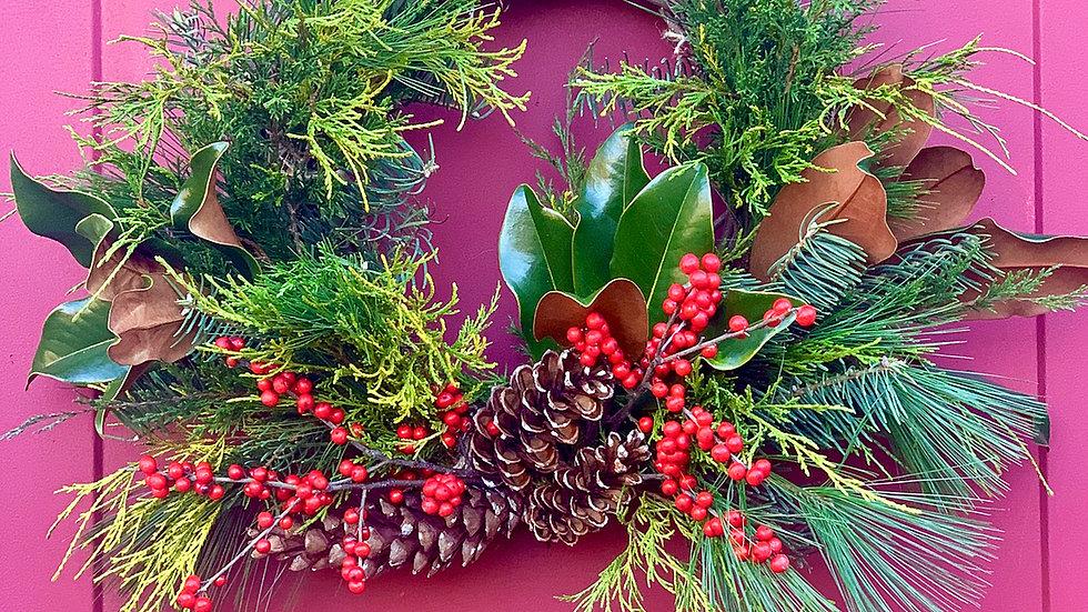Evergreen Wreath (Assembled)