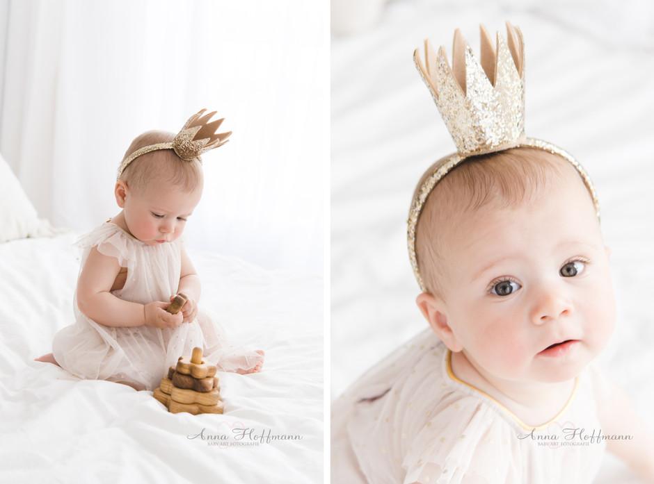 kleine Prinzessin I 12 Monate alt I Baby Studio Shooting Köln
