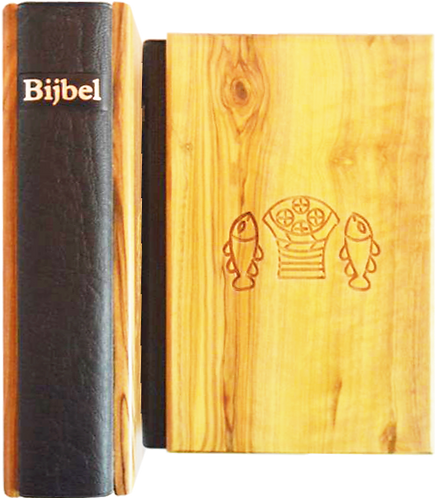 Dutch Bible Olive Wood cover