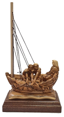 Jesus with Disciples in Boat-L