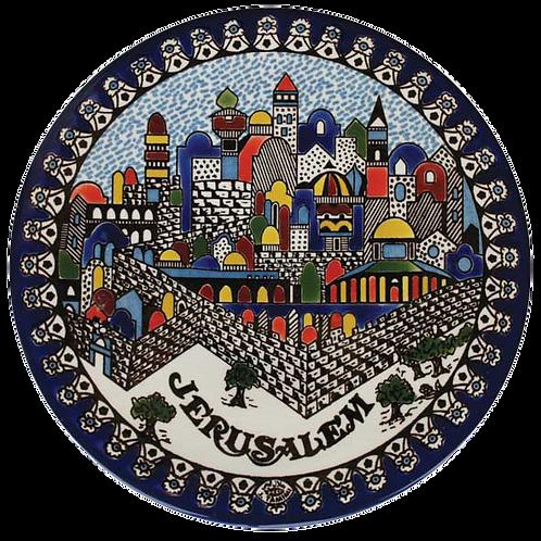 Jerusalem  Plate - medium