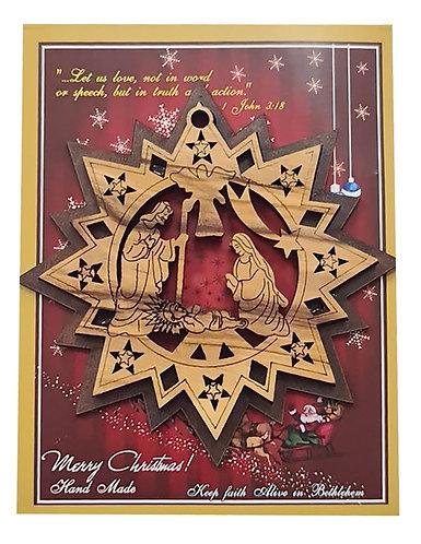 Set of 6 Laser Christmas Decorations