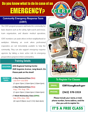 Long Beach CERT Flyer