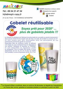 Gobelets réutilisables