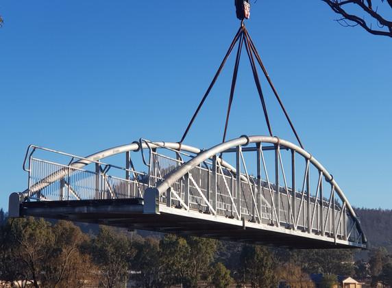 Quart Pot Creek Pedestrian Bridge Install
