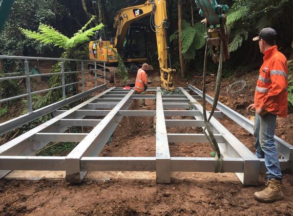 Mount Keira Track Bridge Construction