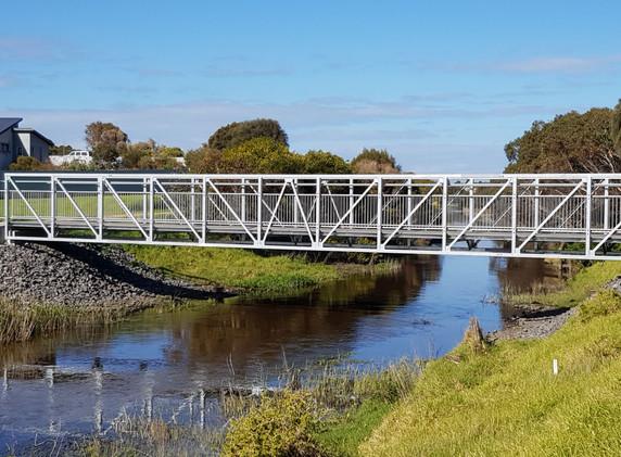 Merri River Merri River Pedestrian Truss Bridge , Warrnambool