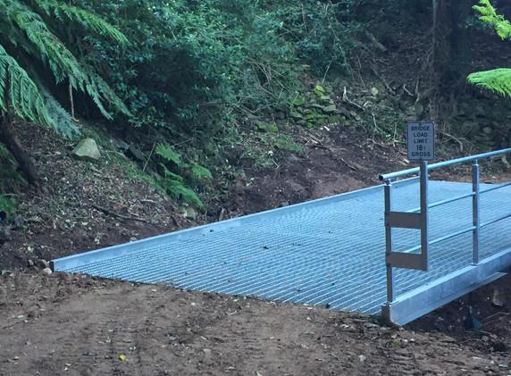 Mt Keira Ring Track Bridge Installed 5