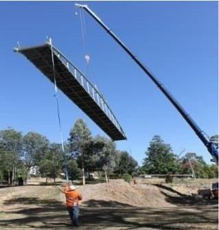 Hepburn Springs Pedestrian Bridge Install