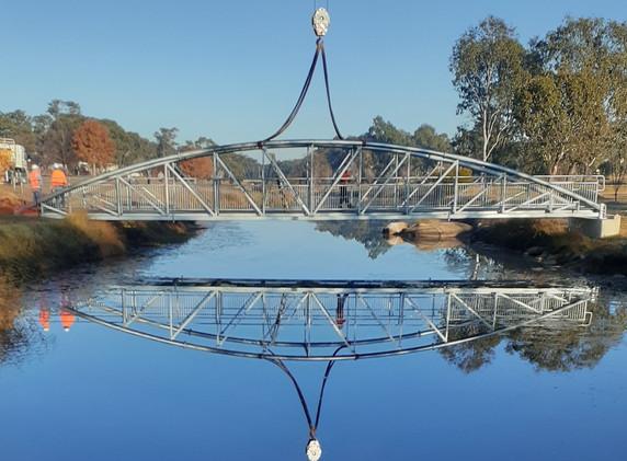 Quart Pot Creek Pedestrian Bridge Installed