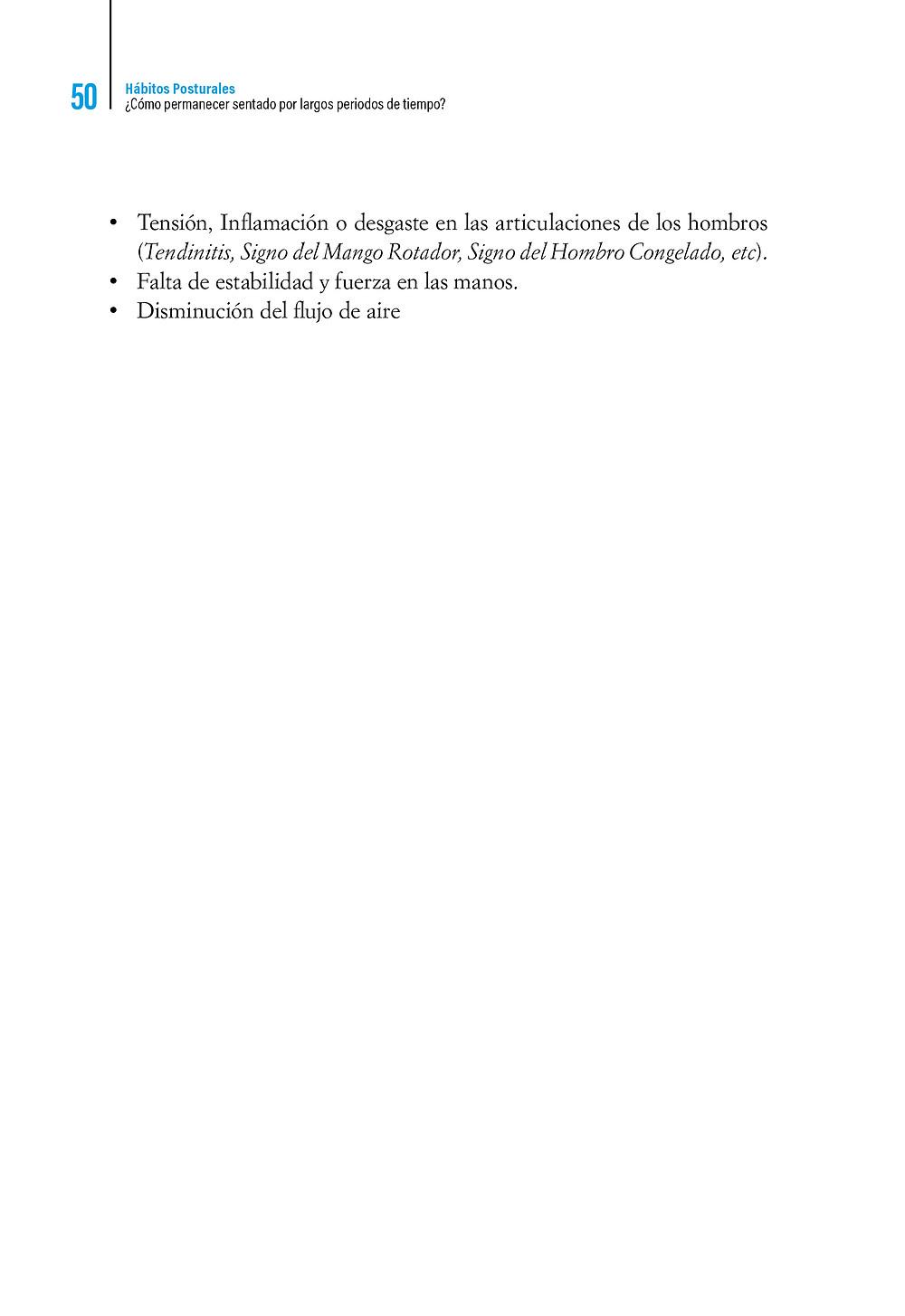     Libro Hábitos Posturales ¿Cómo permanecer sentado por largos períodos de tiempo ? Posición de los omóplatos y hombros 2