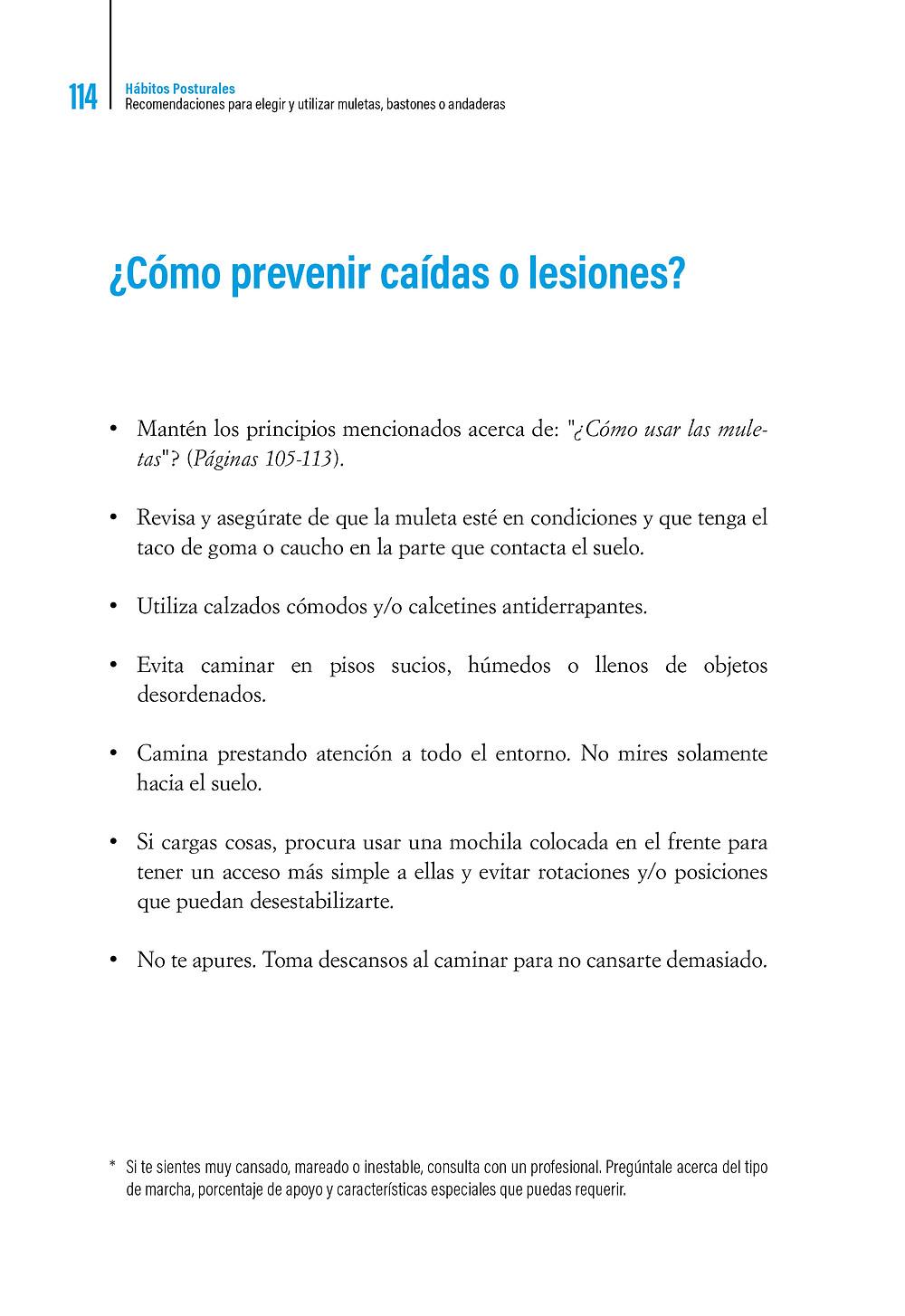 Libro Hábitos Posturales ¿Cómo prevenir caídas o lesiones ?
