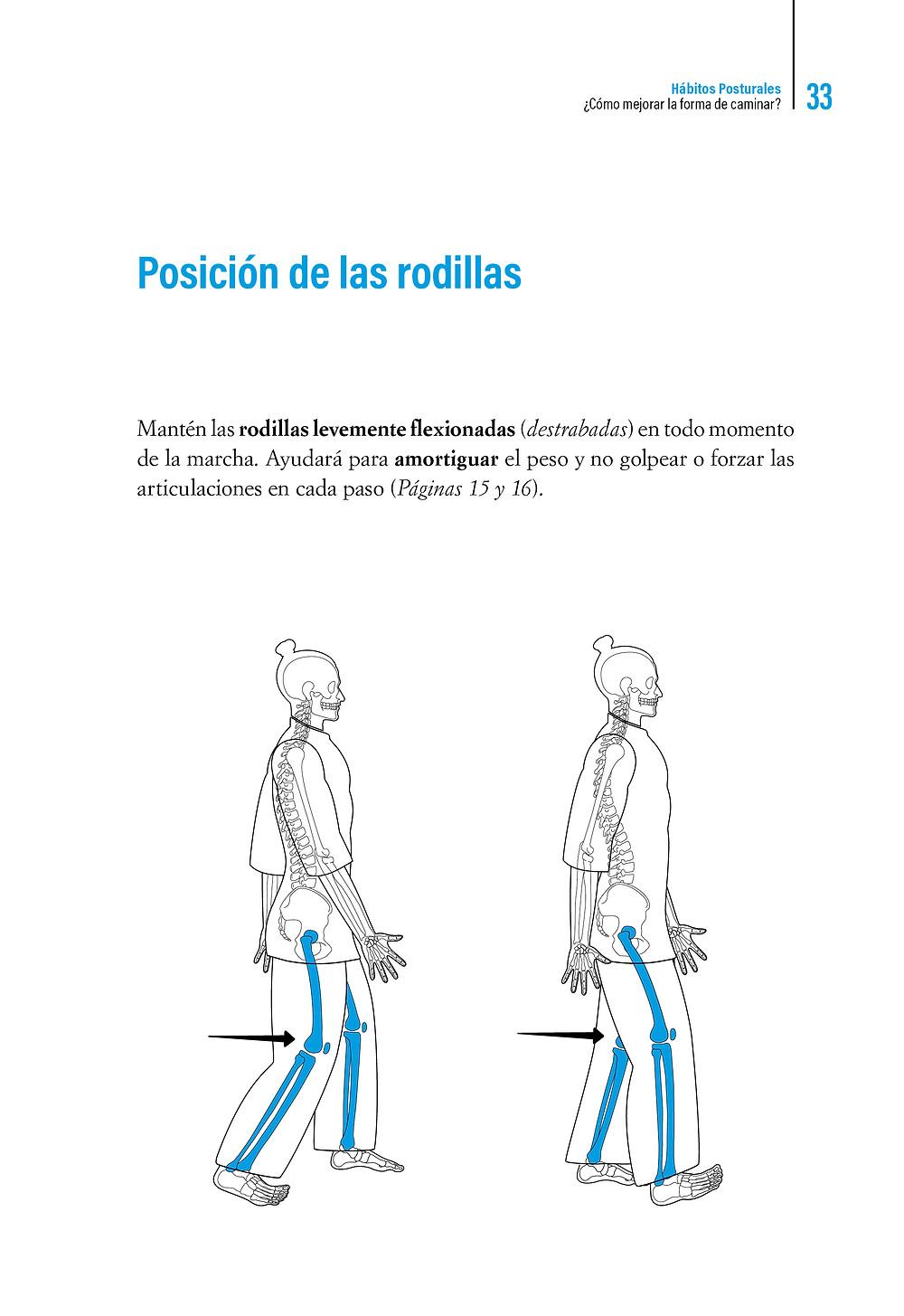   Libro Hábitos Posturales Posición de las rodillas al caminar