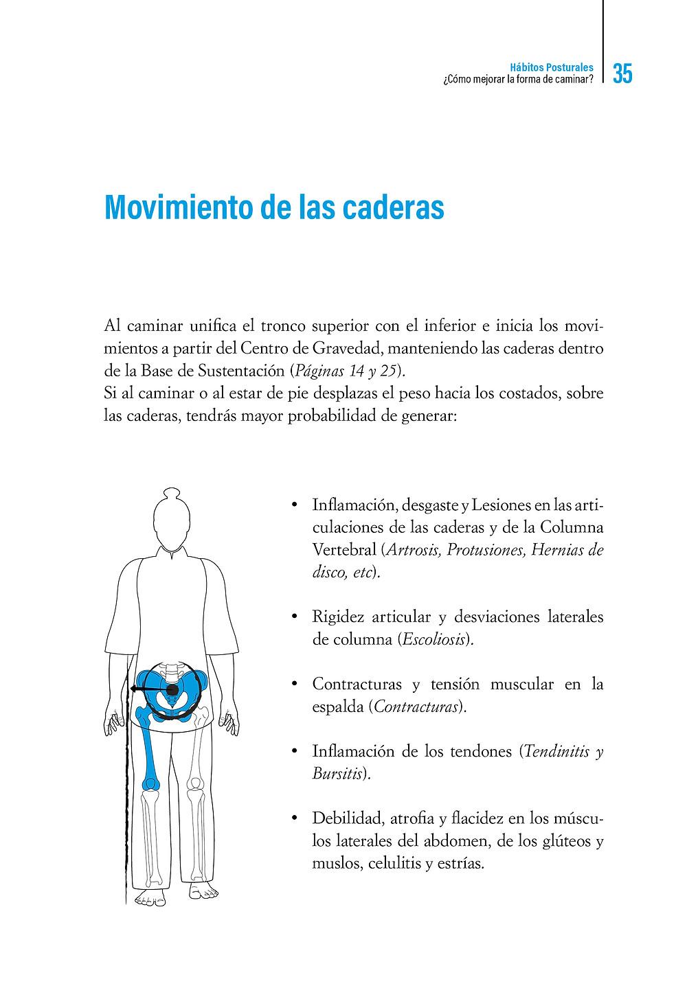   Libro Hábitos Posturales Movimiento de las caderas