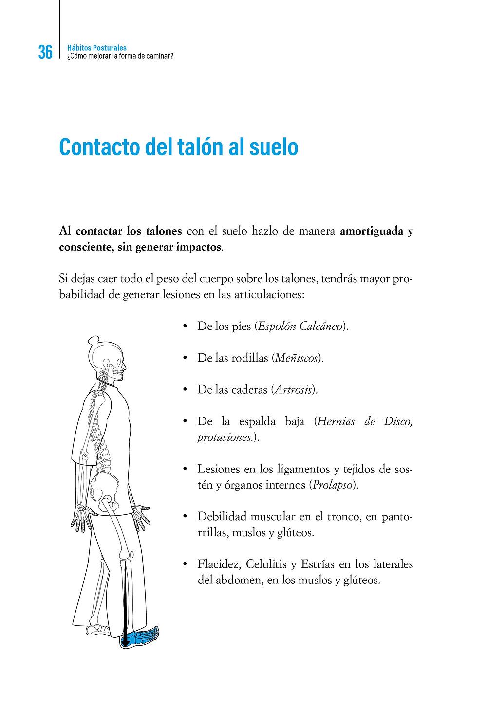   Libro Hábitos Posturales Contacto del talón al suelo