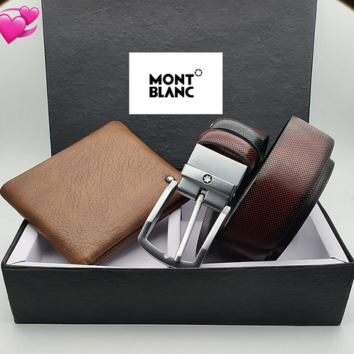 Mont Blanc wallet and belt