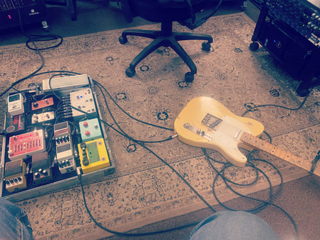 Pedals and a '54 Telecaster