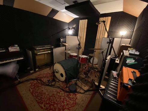 Recording Studio Drum Setup