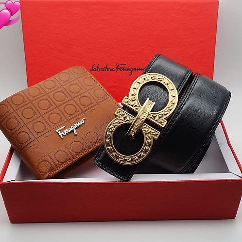 Ferragamo Wallet and belt