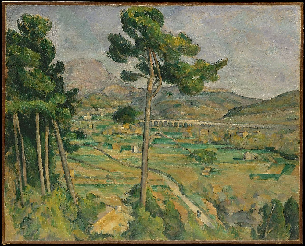 Montanha de Santa Vitória e viaduto, Cézanne, 1882-85