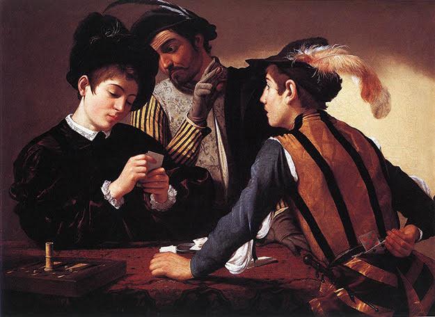 Os trapaceiros, Caravaggio, 1596