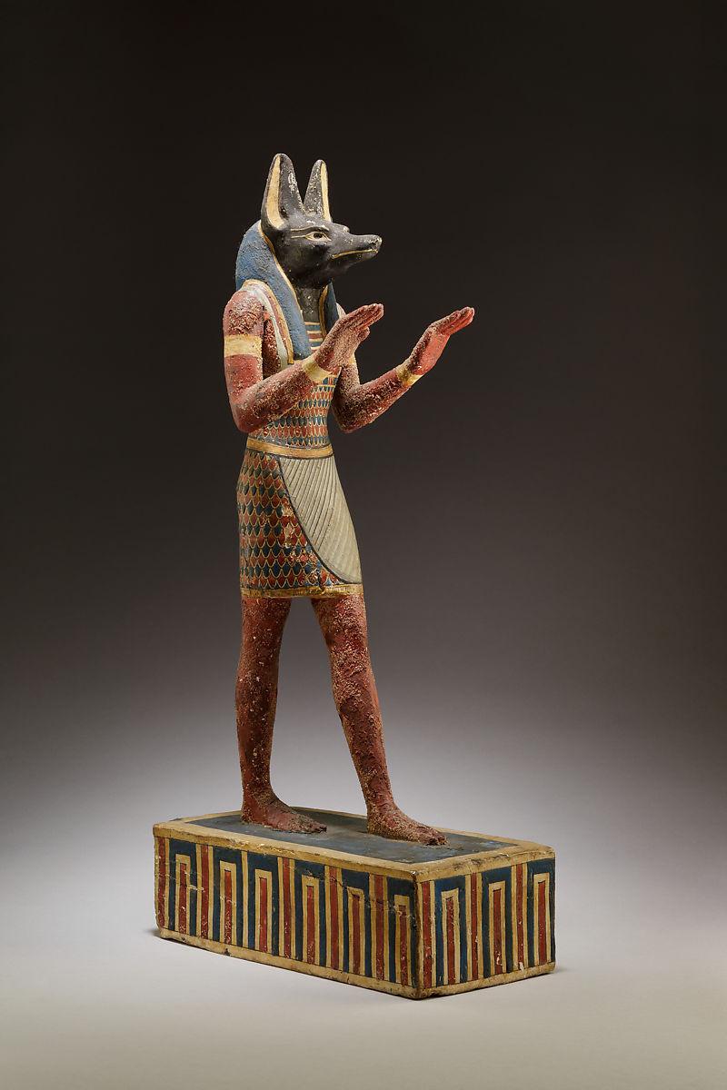 Estatueta de Anúbis. Arte egípcia, 332-30 a.C.