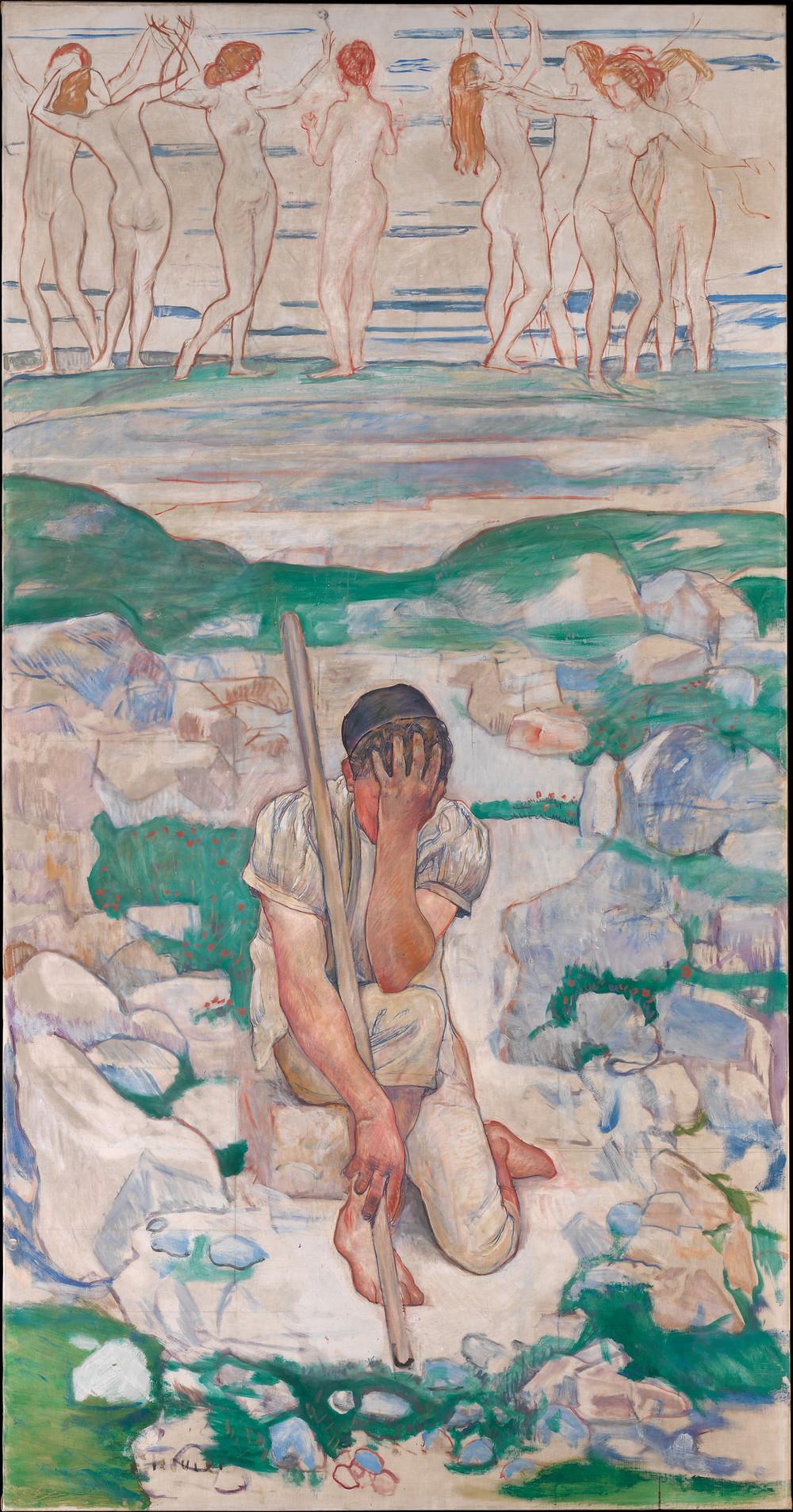 O sonho do pastor. Fernand Hodler, 1896