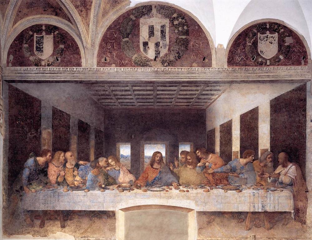 pintura mural de Leonardo da Vinci