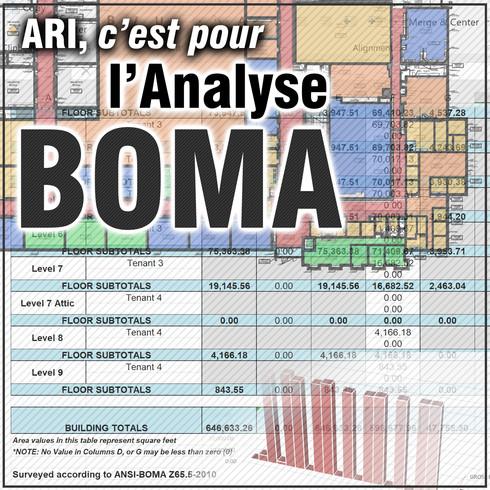 Arpentage BOMA commerciales et de détail