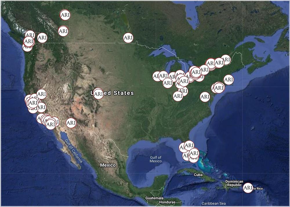 ARI projects in North America - 2019