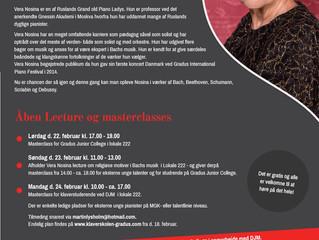 Kom til masterclass og koncert med den russiske mesterpianist, Vera Nosina 22.-24. februar