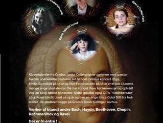 Koncert med unge klavertalenter fra Litauen og Danmark