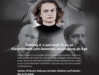 Kom til klaveraften med Gustav Piekut 7. juni