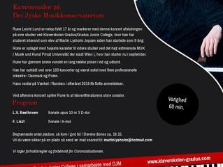 Kom til Runes afgangskoncert torsdag d 3. og 8. september kl 19.30