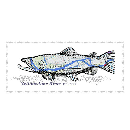 Yellowstone River Fish Poster