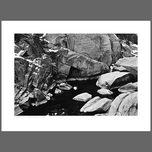 A collectable fine art print of the Cheesman Canyon section of the South Platte river in Colorado
